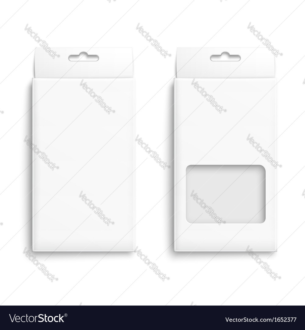 White paper packaging box vector