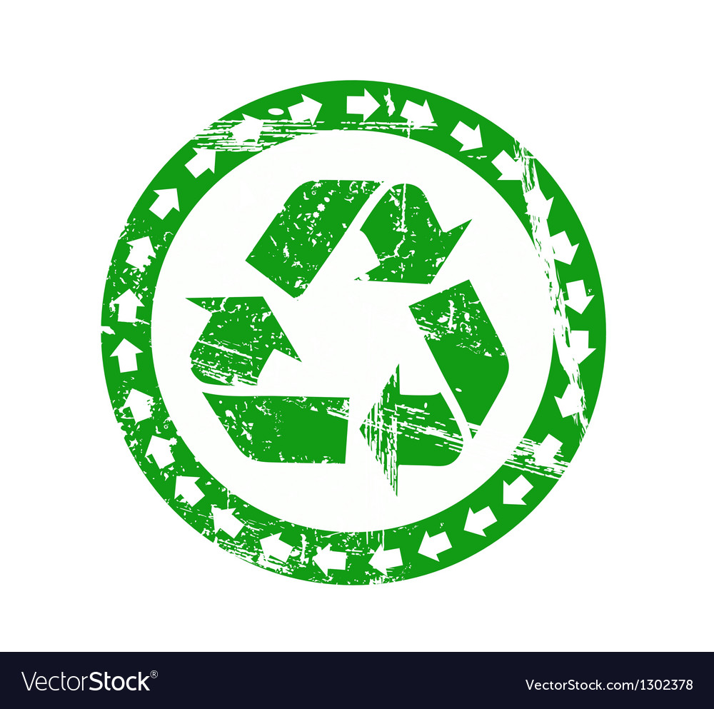 Worn recycling label vector