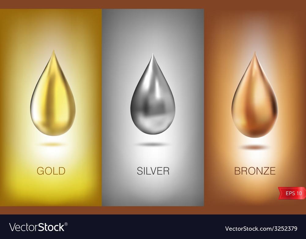 Oil liquid metal vector