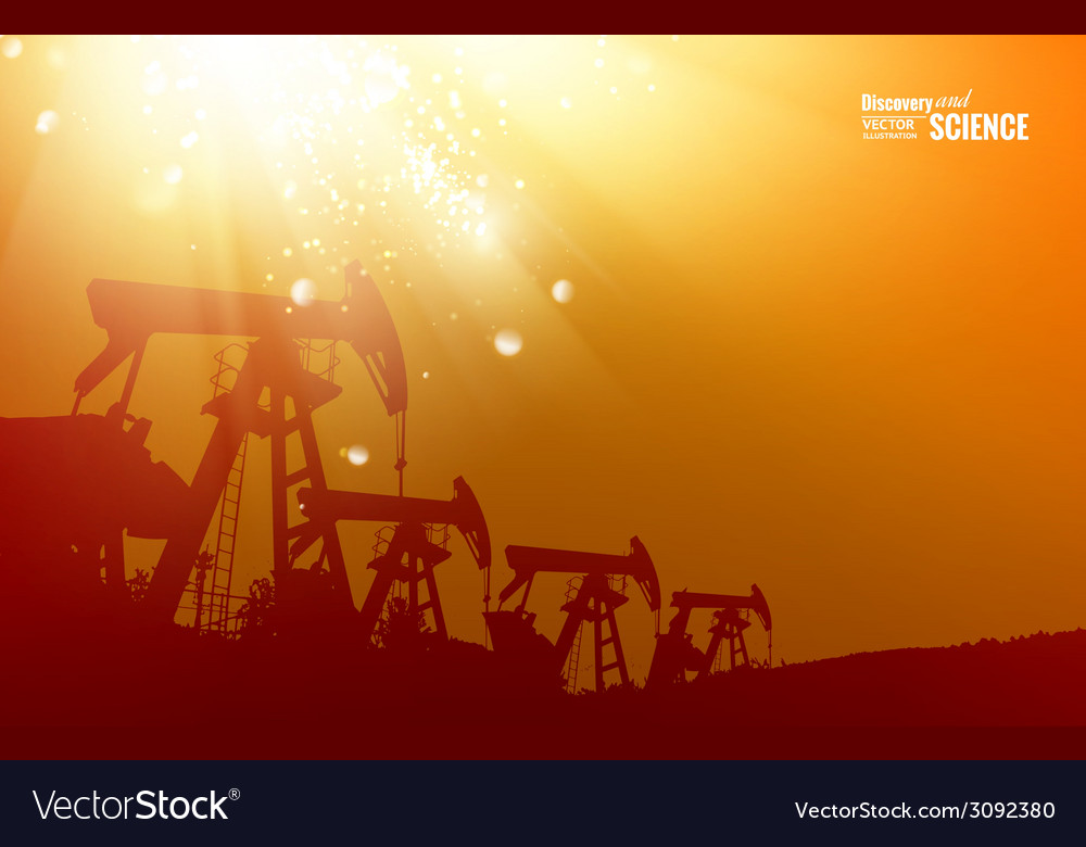 Oil pump background vector