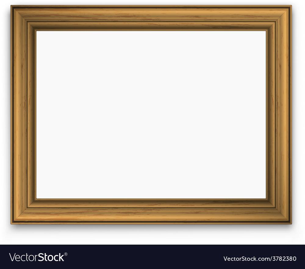 Vintage gold picture frame vector