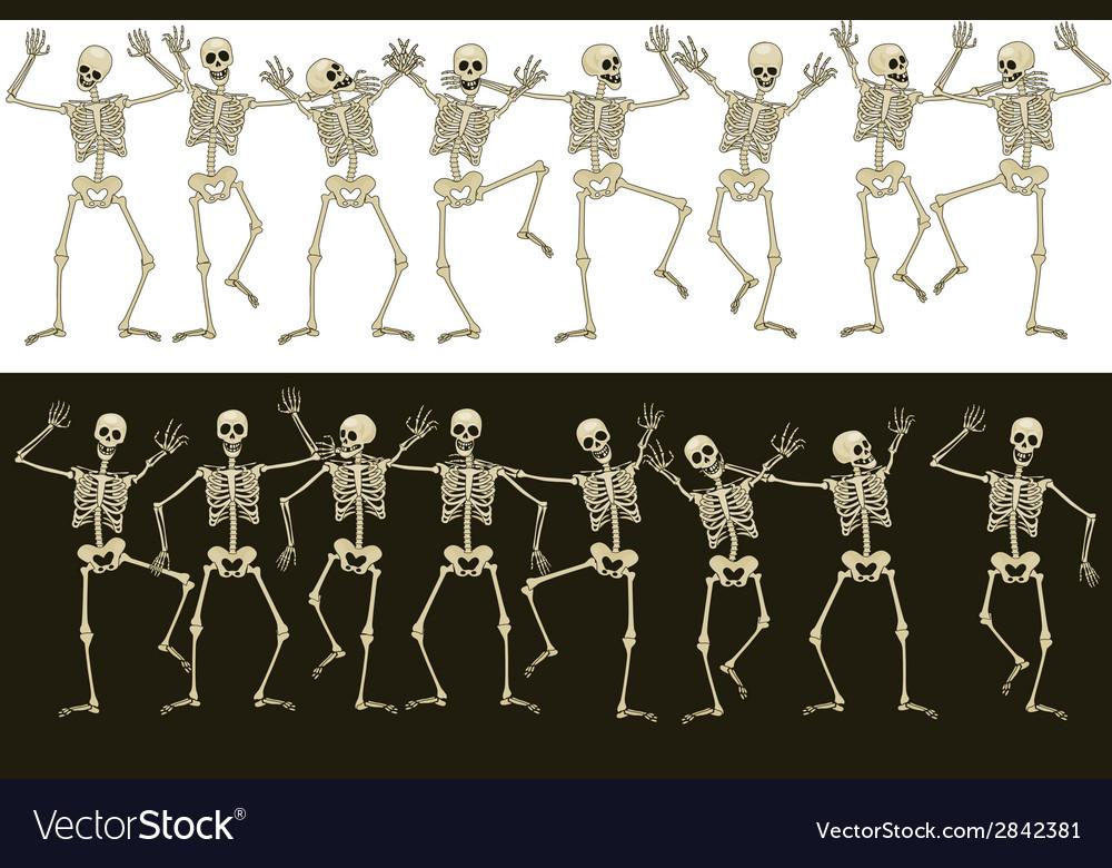 Fun skeletons vector