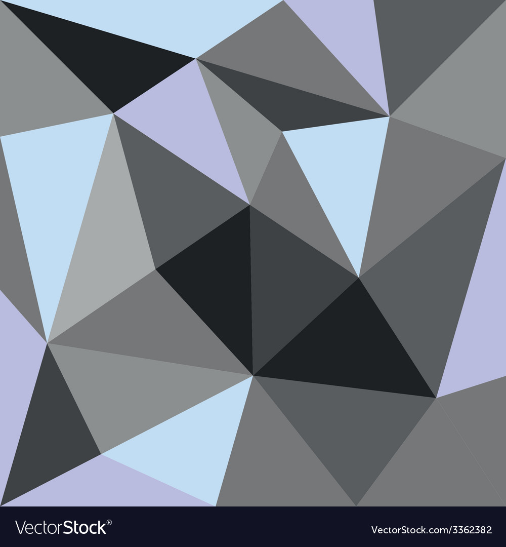 Pastel triangle blue grey and green background vector