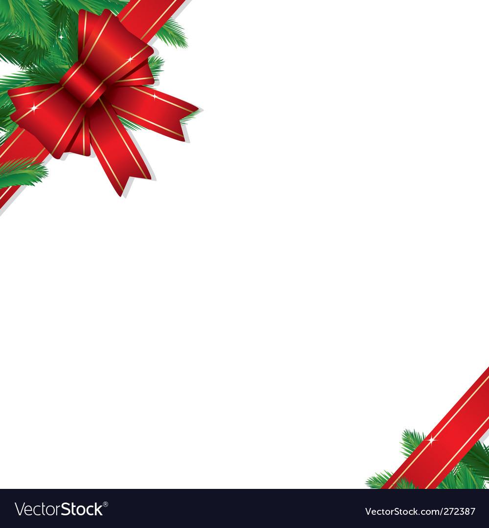 Christmas gift border vector