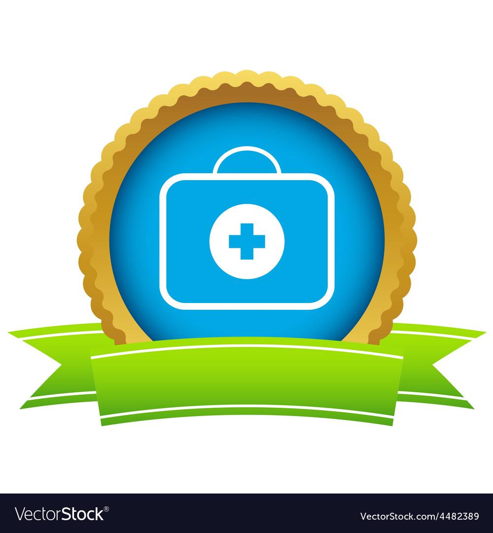Gold doctor bag logo vector