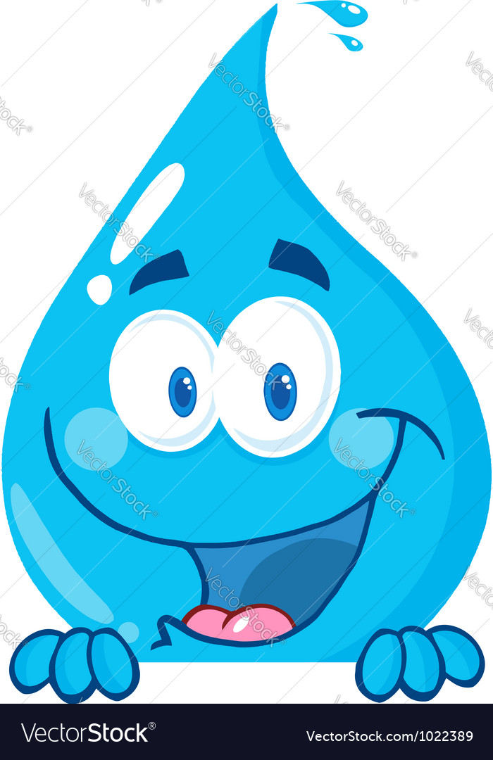 Water drop over a sign vector