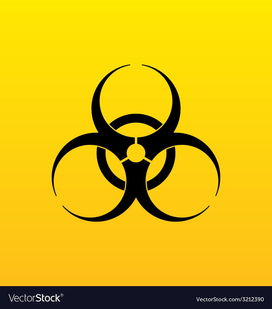 Bio hazard sign danger symbol warning vector