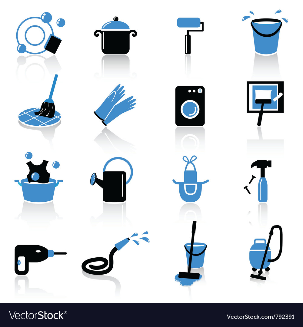 Homework icons vector