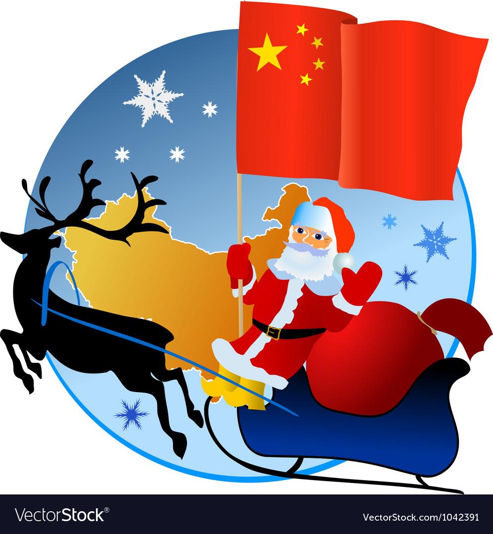 Merry christmas china vector