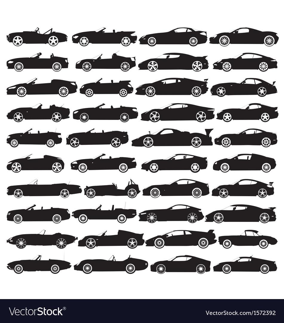 Car silhouettes vector