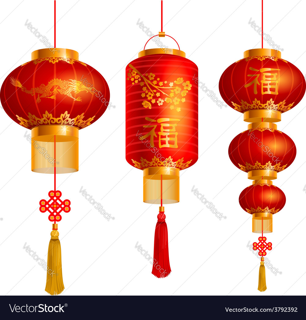 China lanterns vector