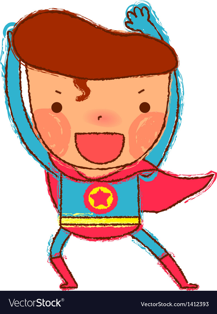 Close-up of boy wearing costume vector