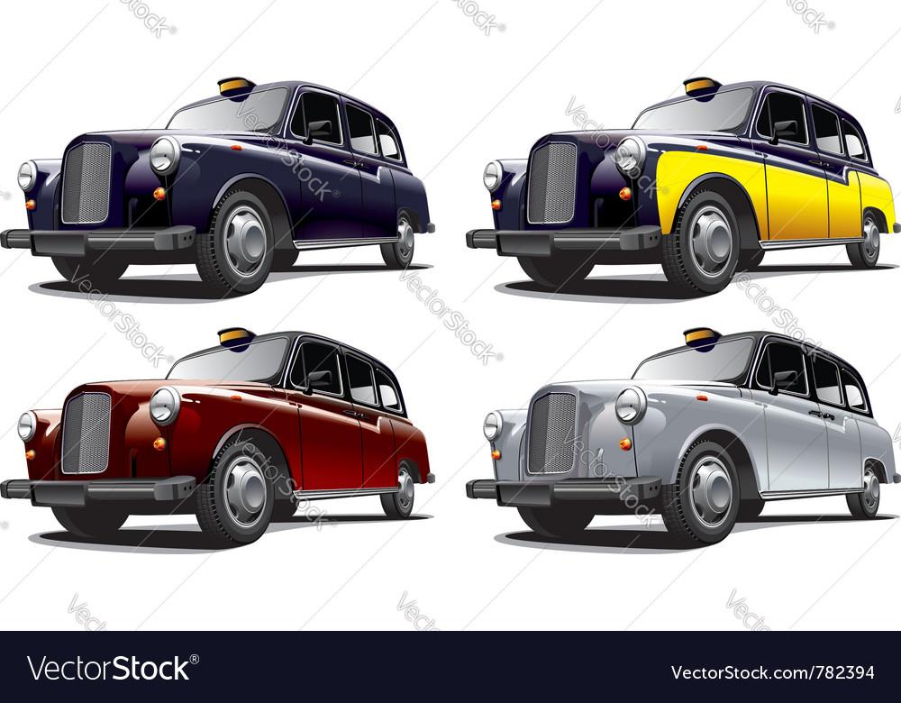 Vintage london taxi cab vector