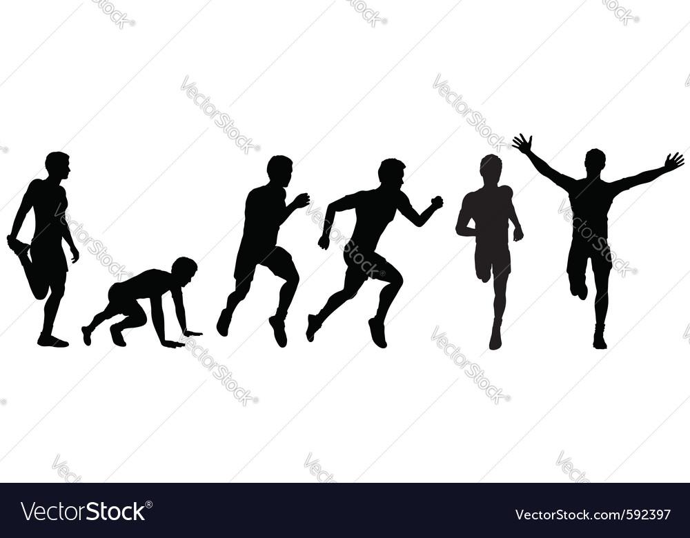 Running man for design vector