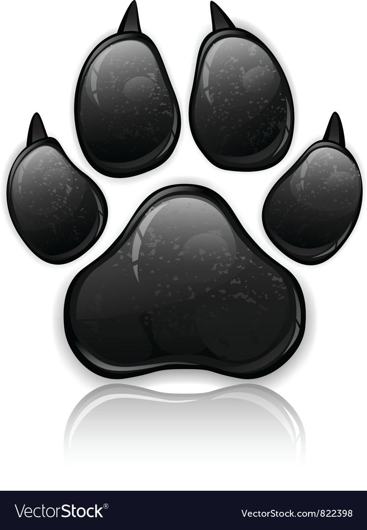 Black paw vector