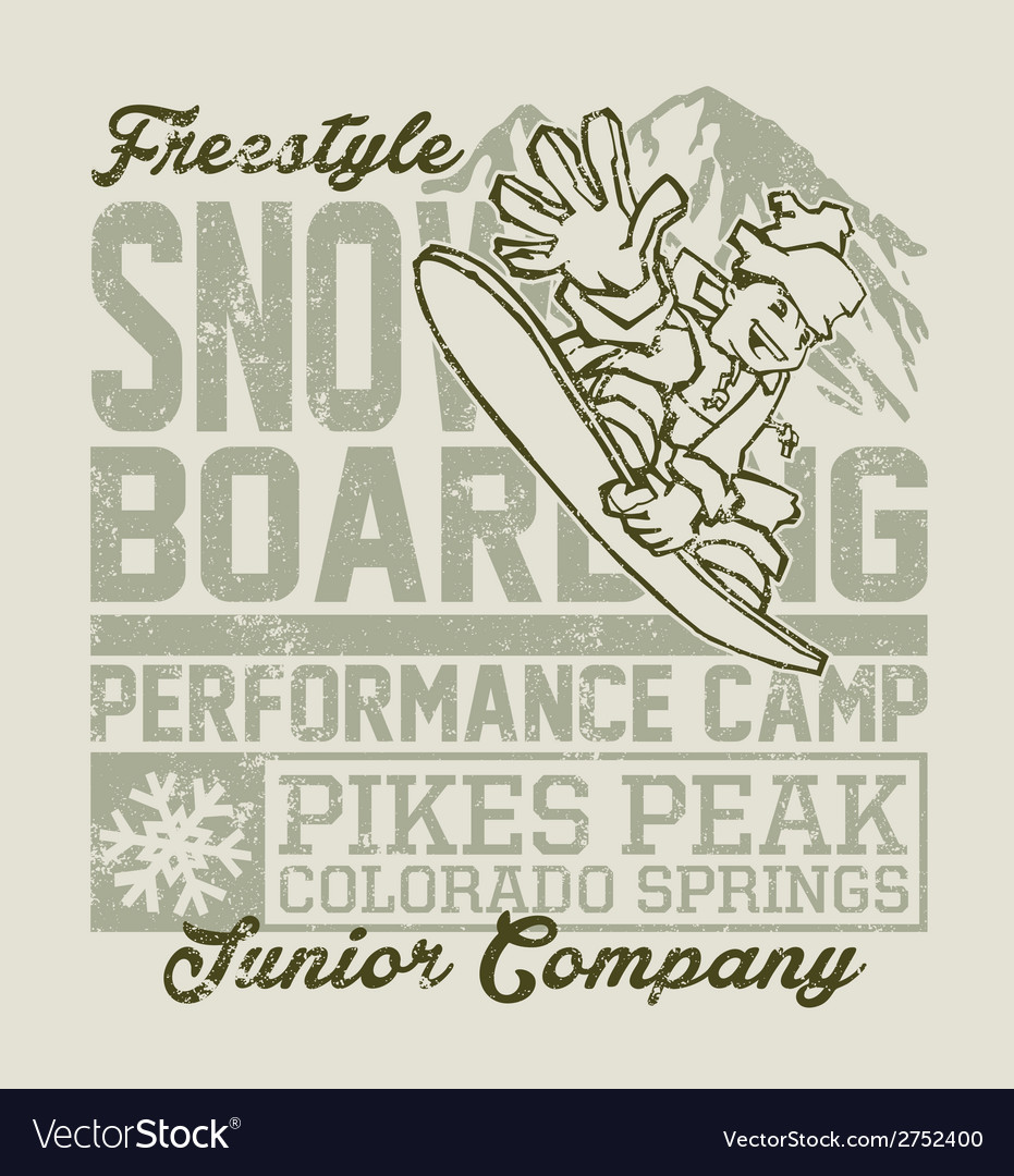 Snowboard camp vector