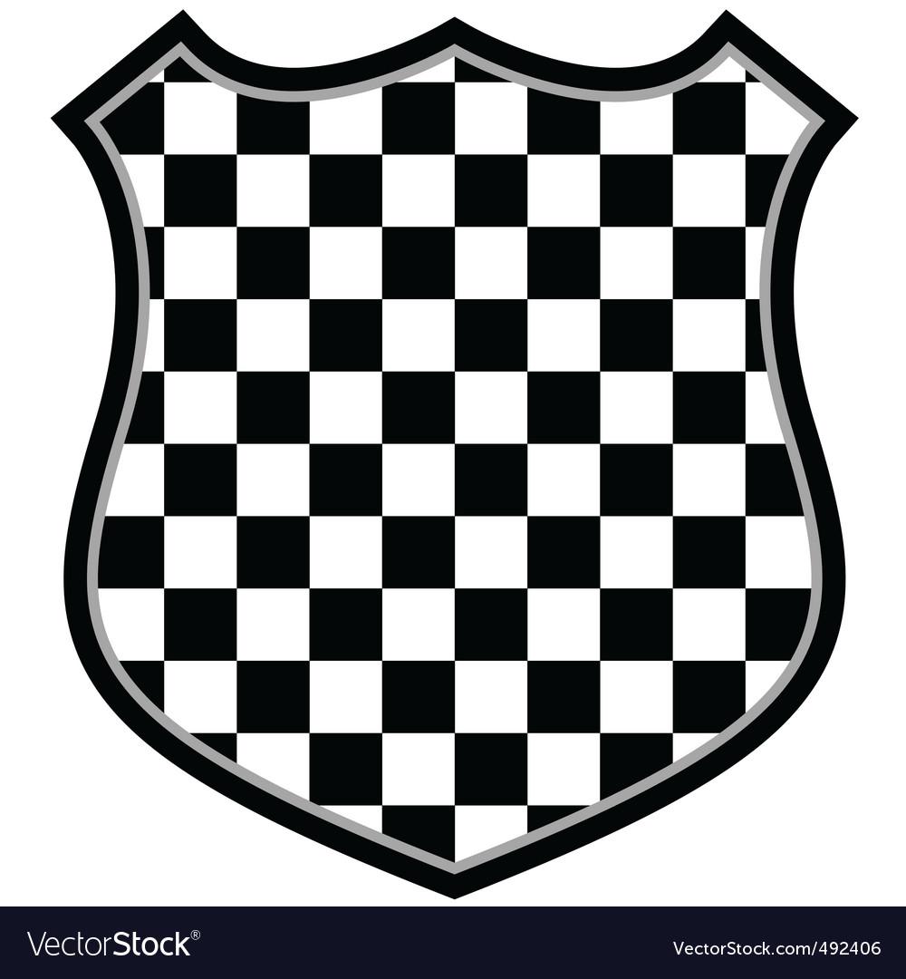 Checkered shield vector