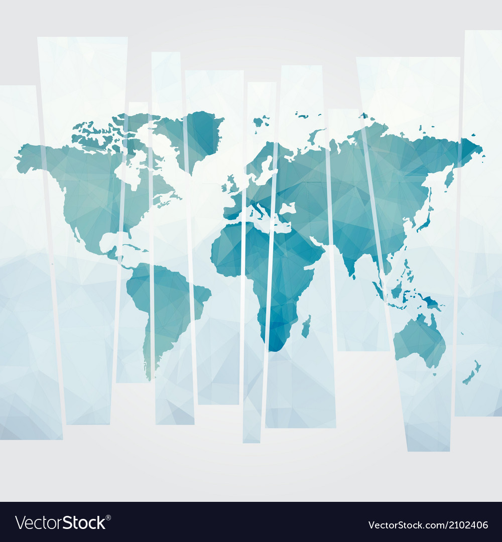 Modern concept of world map vector