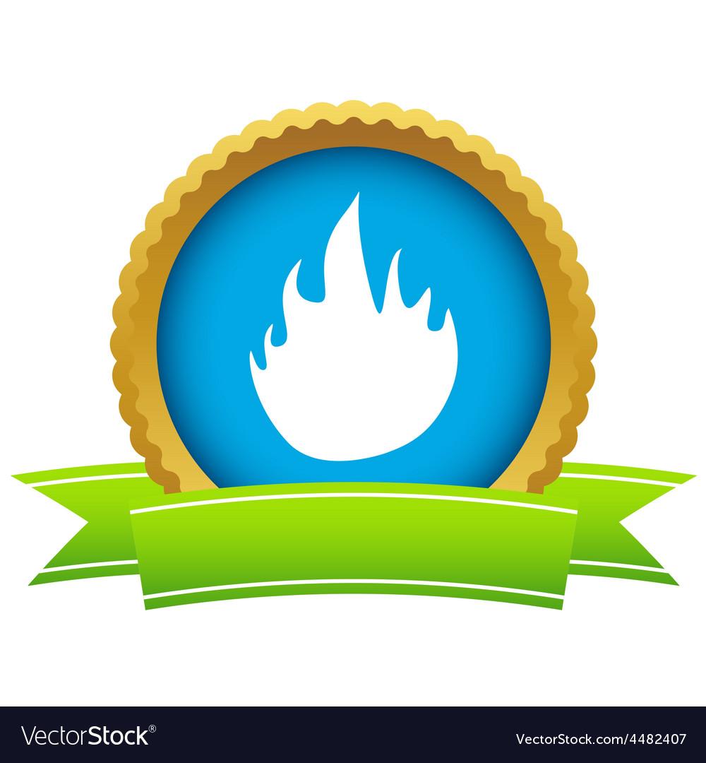 Gold fire logo vector
