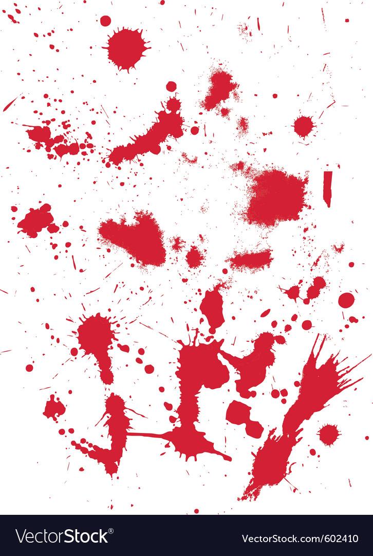 Grunge texture from blood splats vector