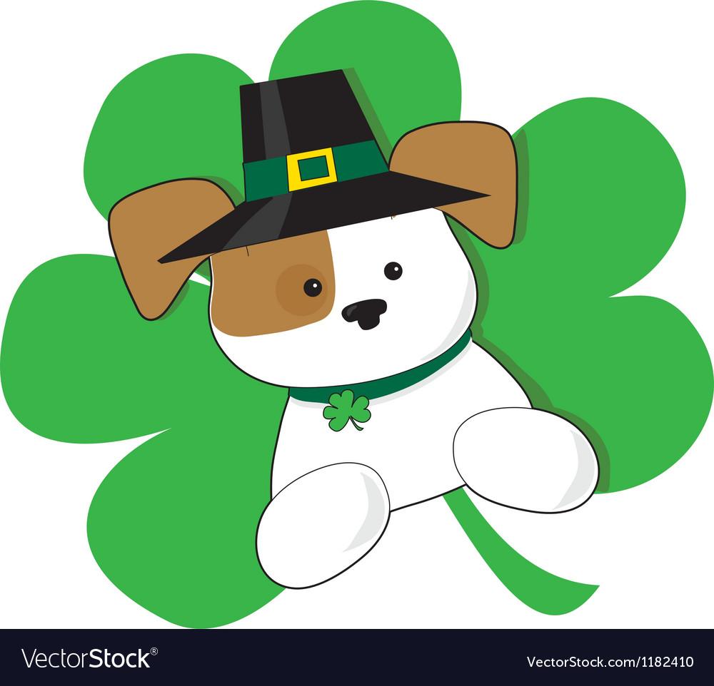 Irish puppy vector