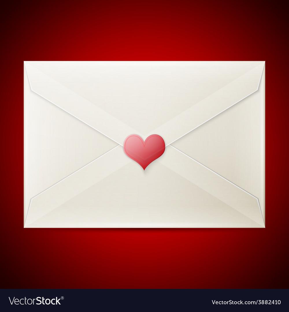Valentine love letter vector