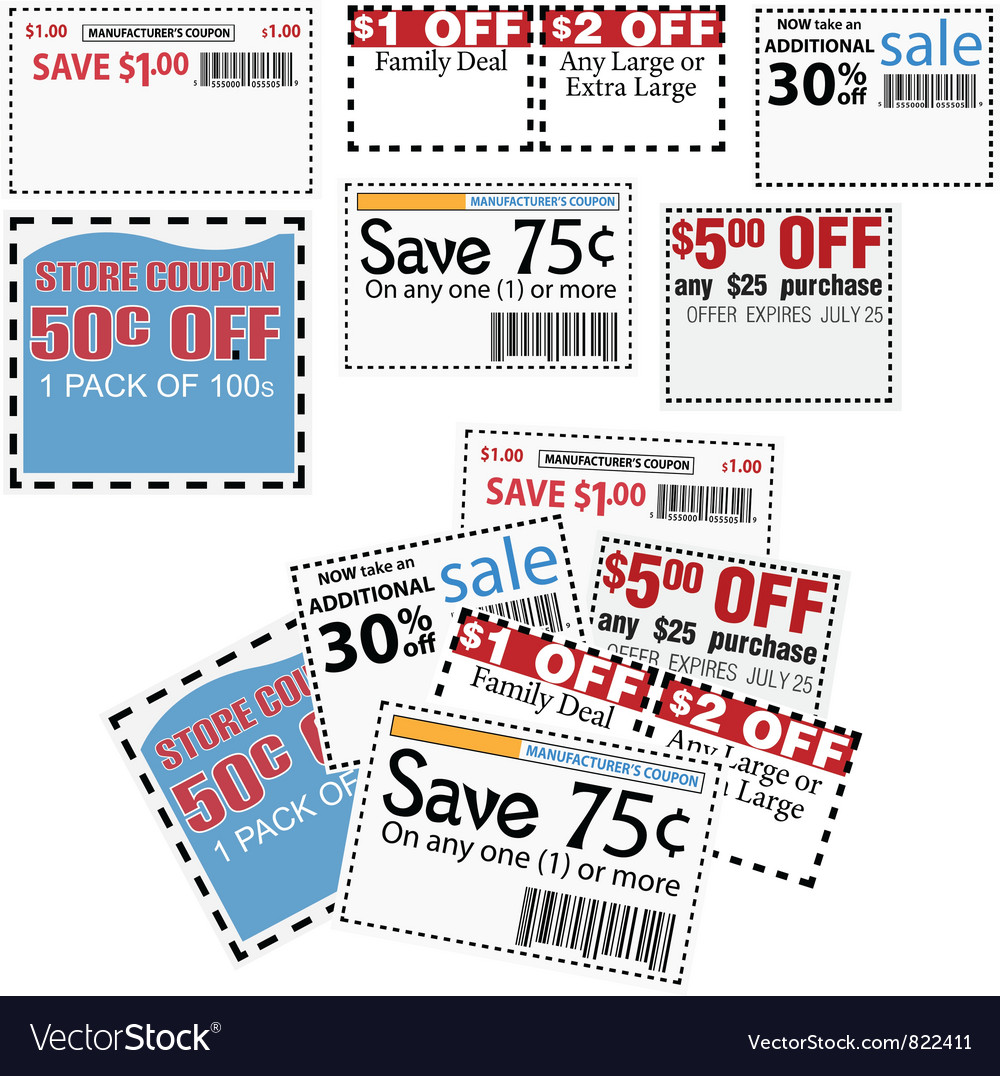 Store coupons vector