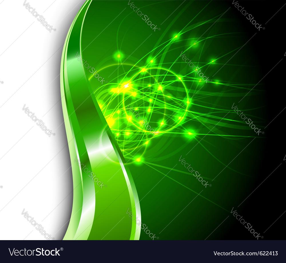 Energy flares vector
