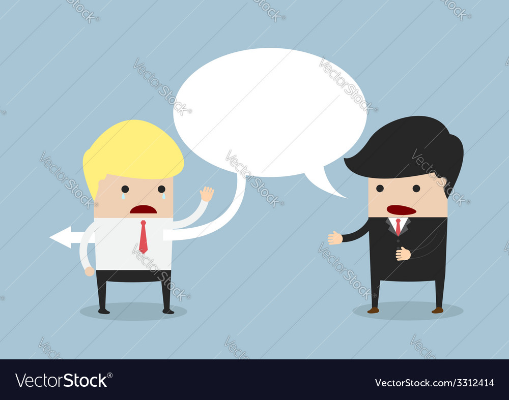 Businessman say sarcastically to other businessman vector