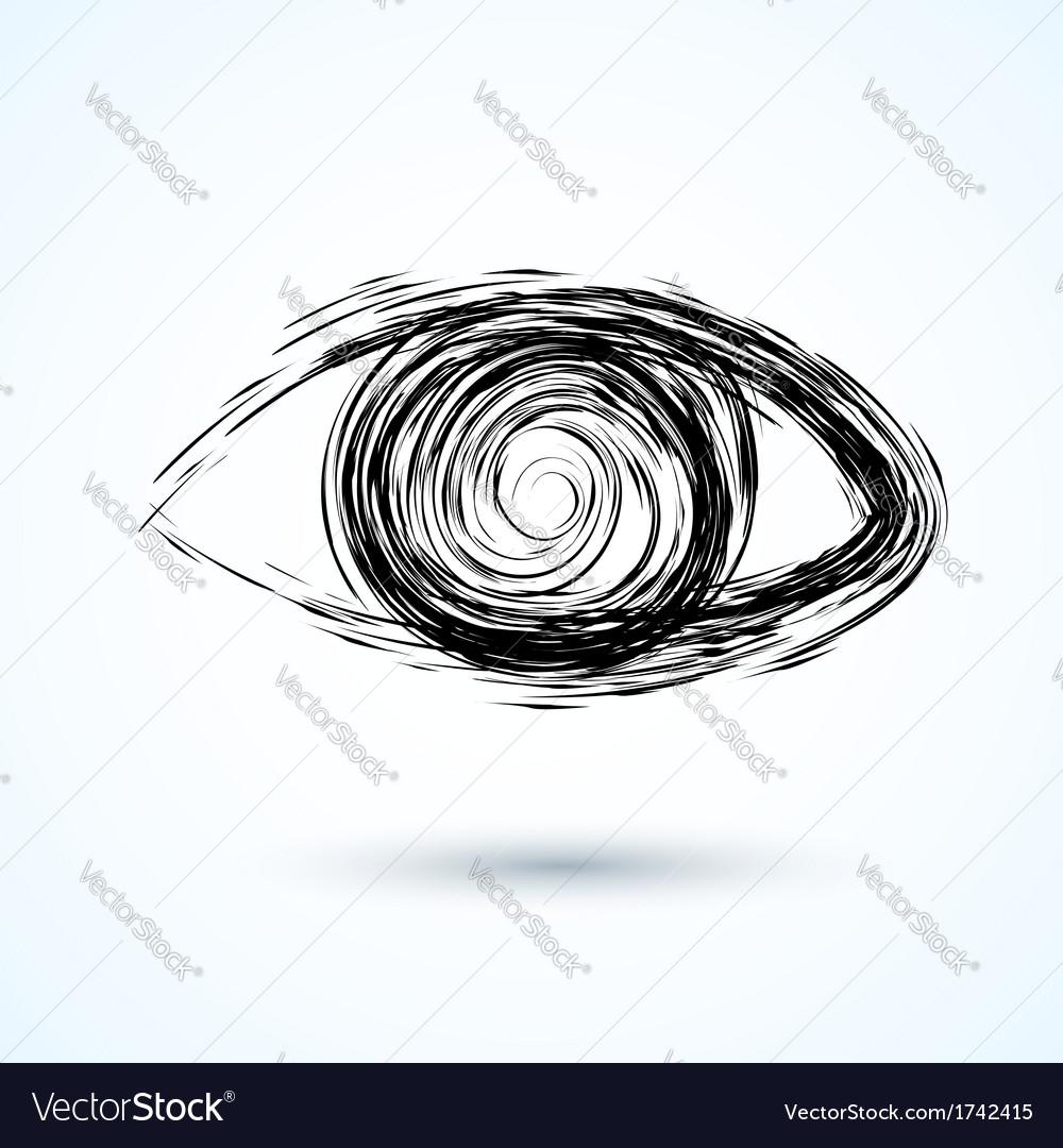 Abstract eye sketch vector