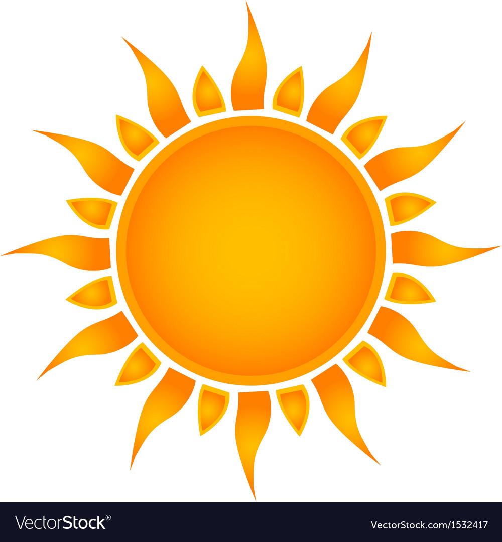 Sun over white - vector