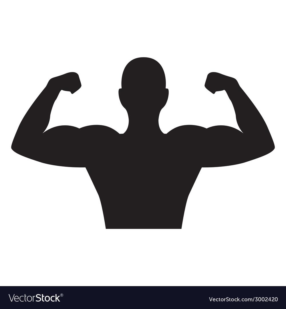 Bodybuilder design vector