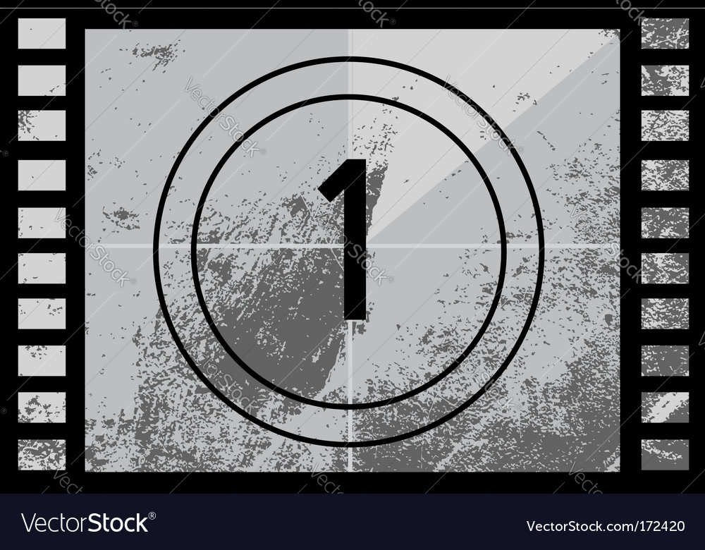 Film countdown number vector