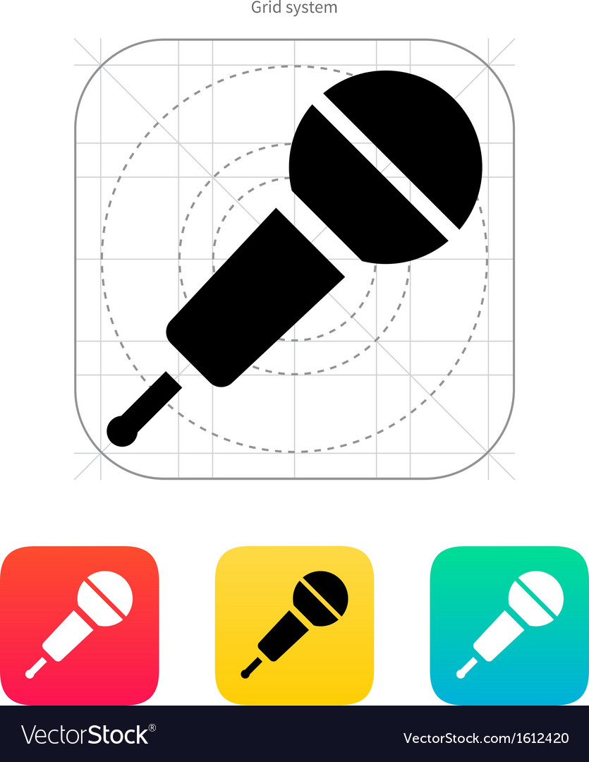 Wireless microphone icon vector
