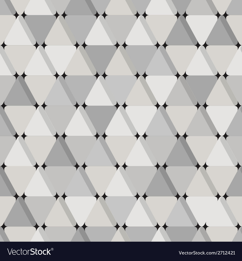 Abstract seamless pattern with grey triangles vector