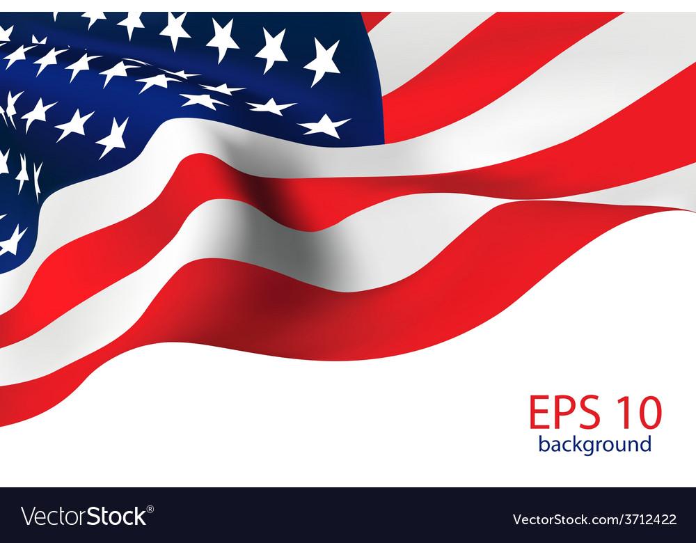 American flag - old glory flag vector