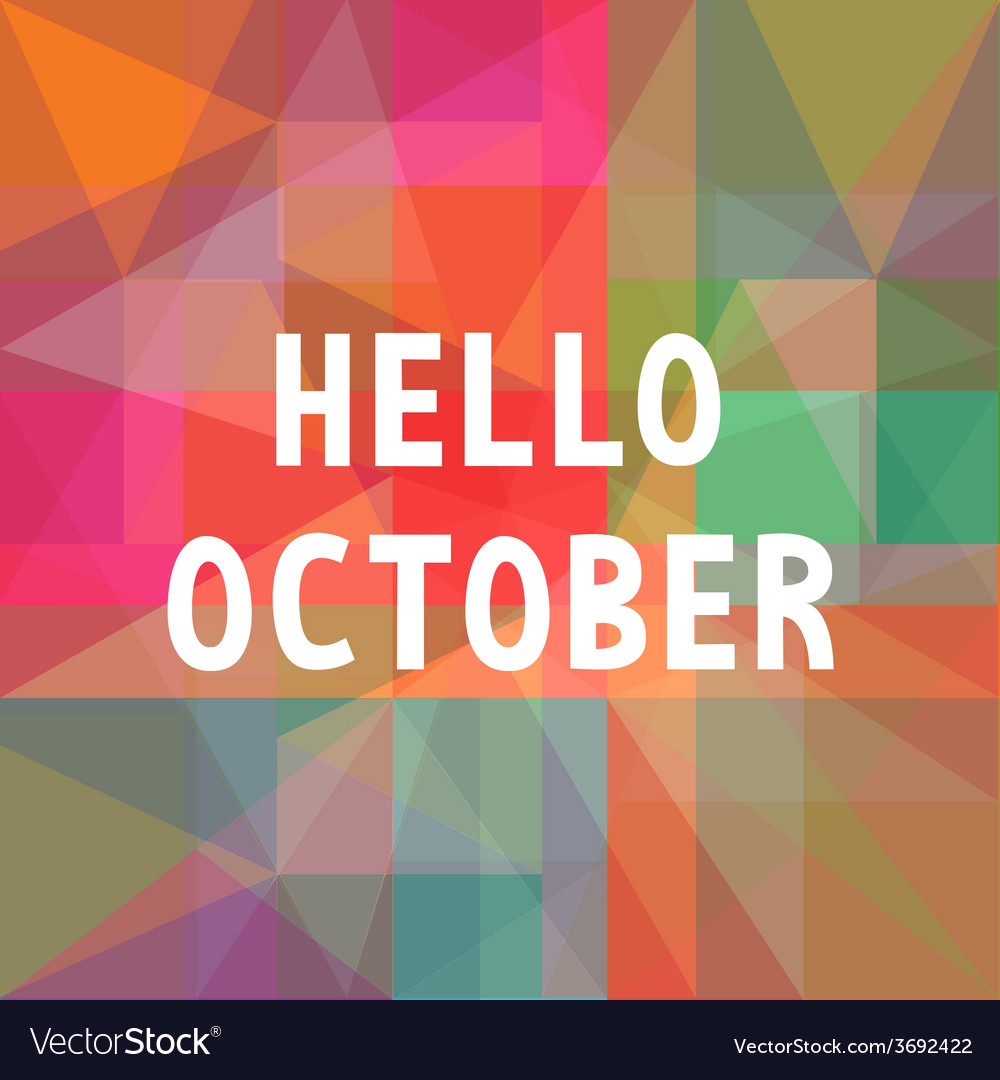 Hello october card1 vector