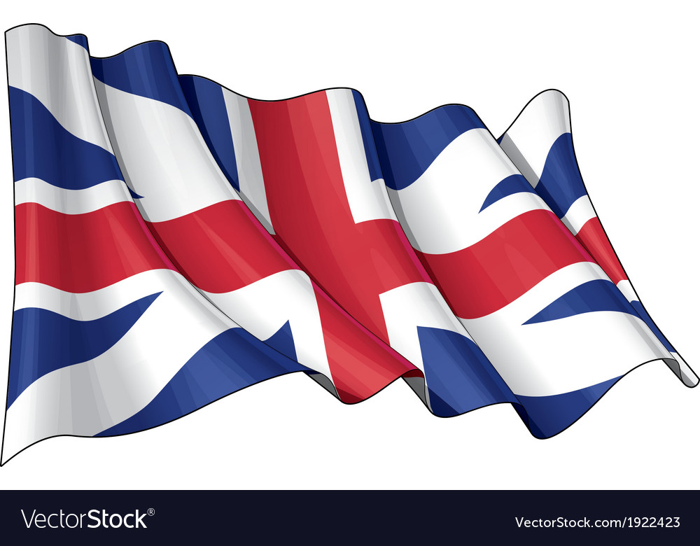 Union jack 1606 1801 the kings colours vector