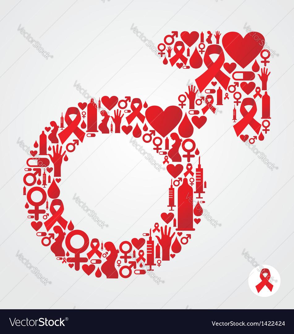 Hiv male symbol vector