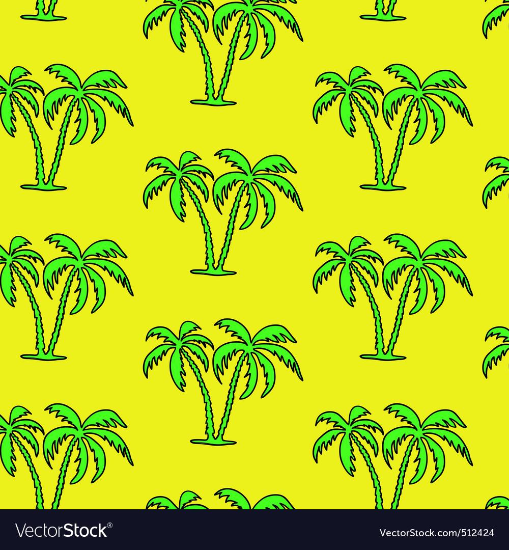 Seamless palm tree pattern vector
