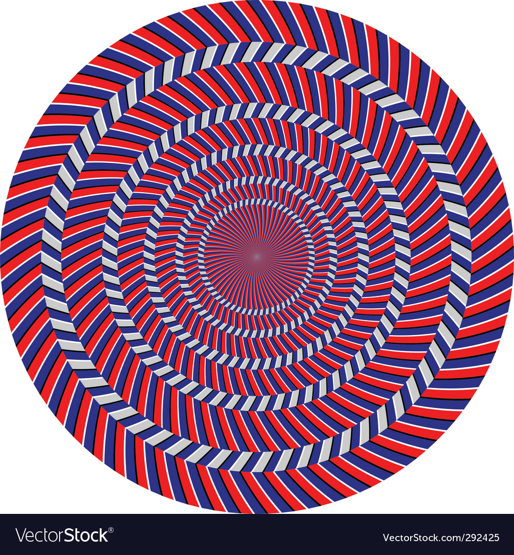 Optical illusion vector