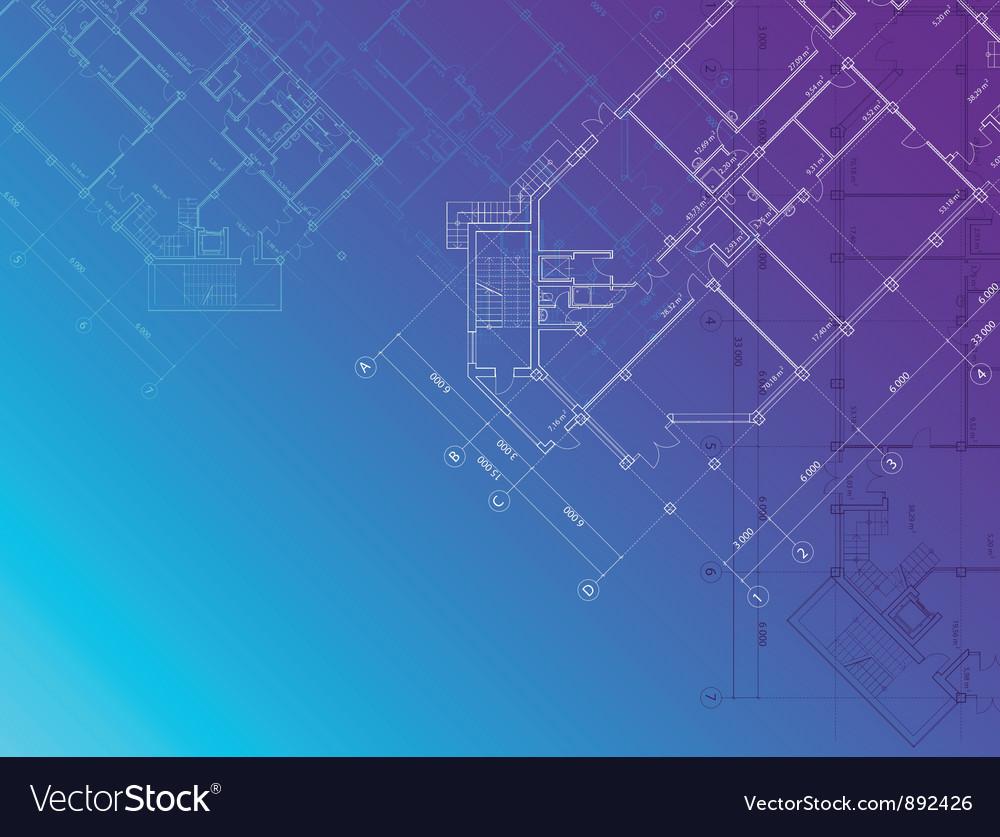 Blue architectural background horisontal vector