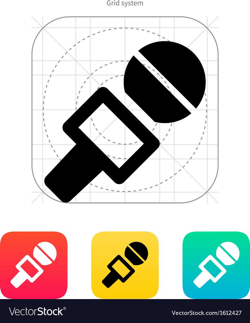 Journalist microphone icon vector