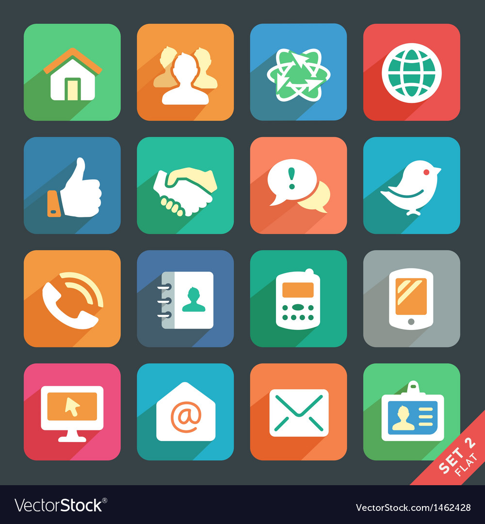Communication and media icons vector