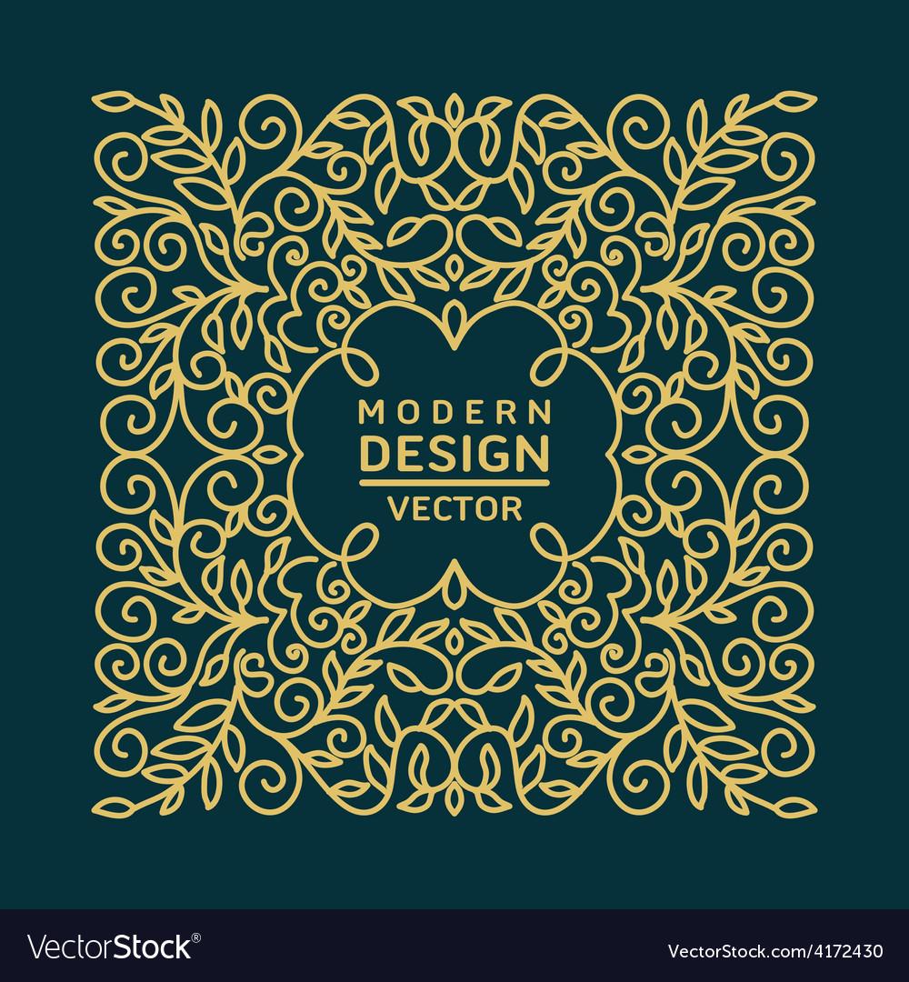 Monogram design element vector