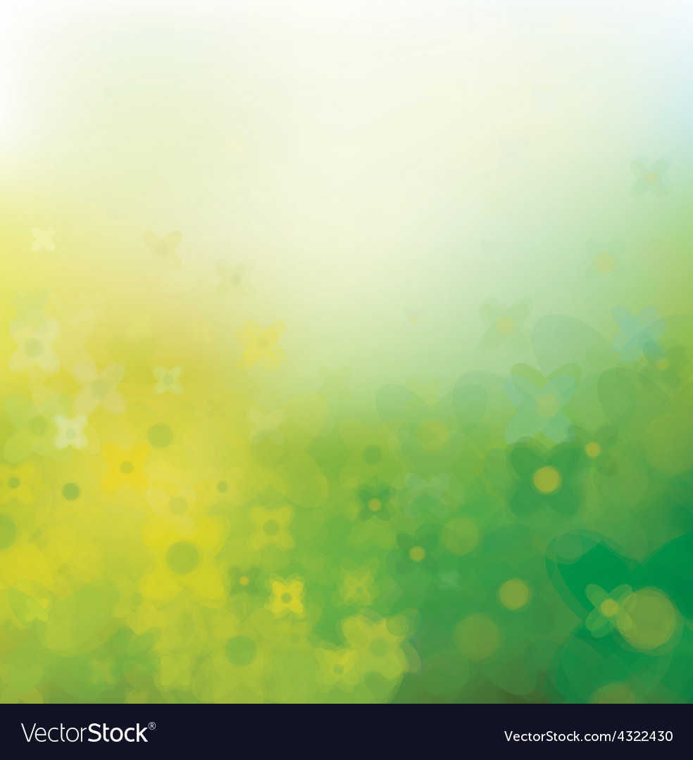 Yellow green gloral pattern vector