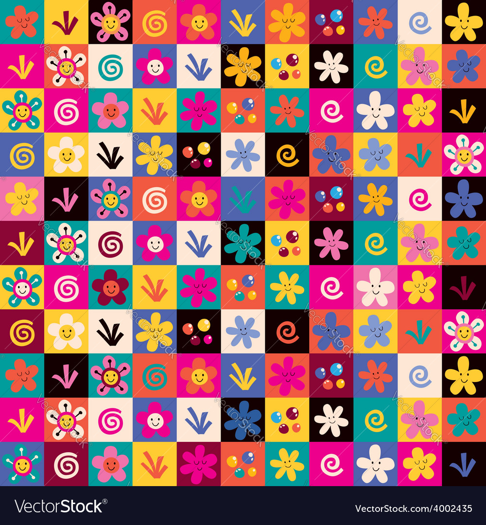 Sweet flowers pattern 2 vector