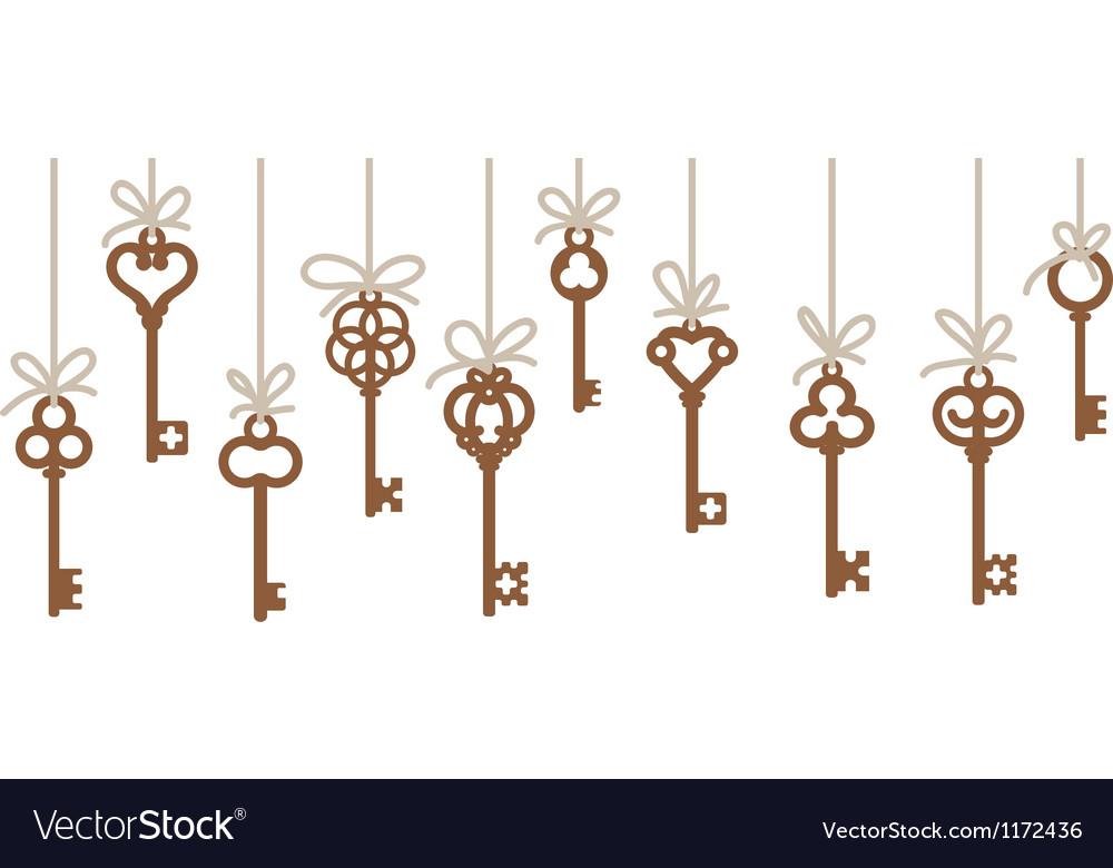 Antique skeleton keys vector