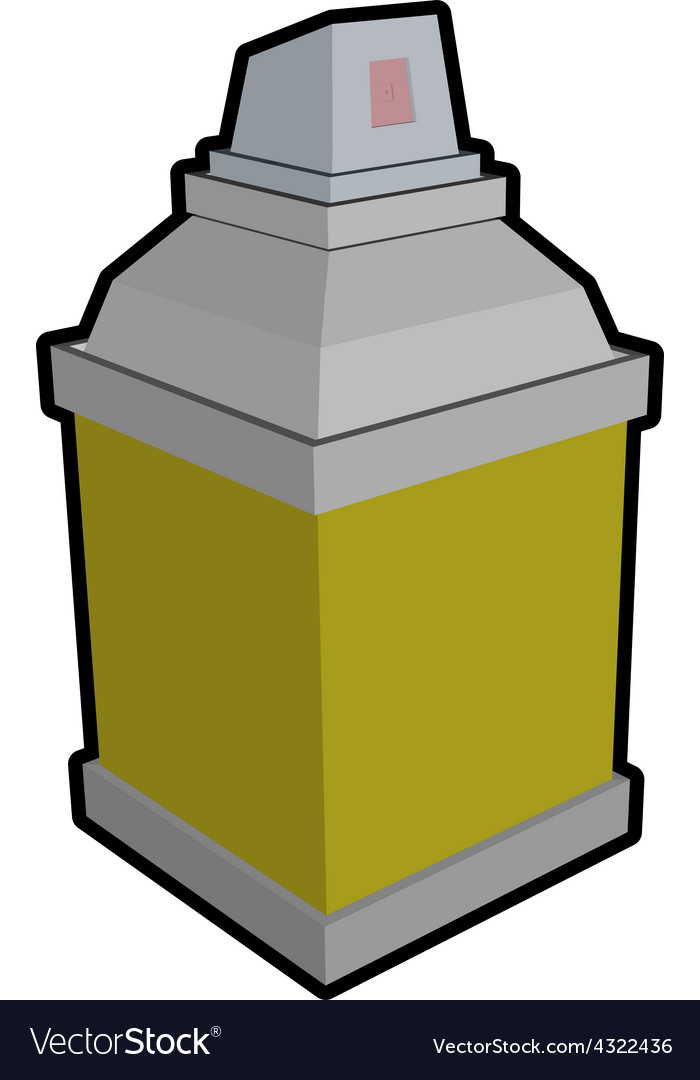 Square spray can icon object vector