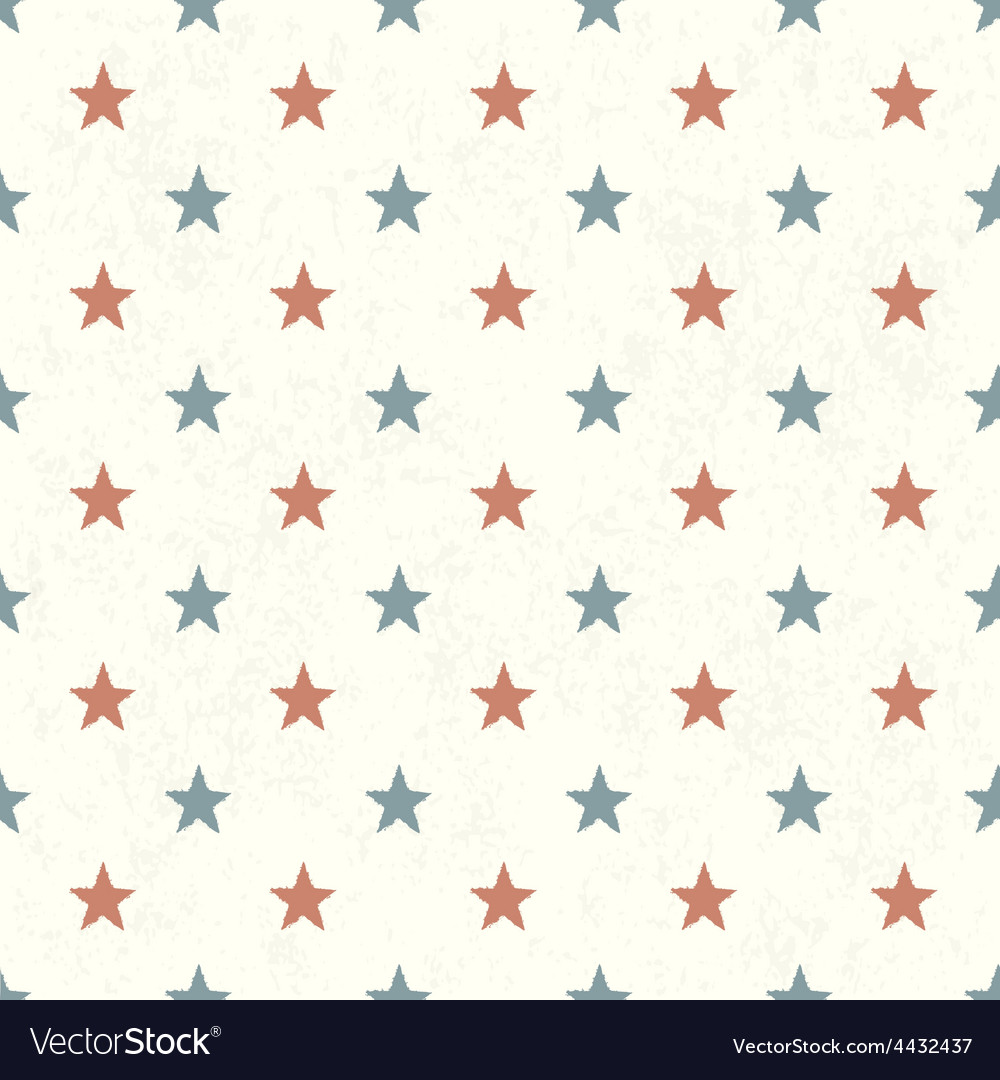 American stars seamless background vector